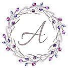 Monogramm-Buchstabe A | Personalisiert | Aquarell Design von PraiseQuotes