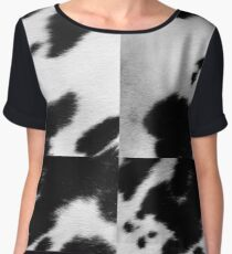 Cowhide in Black and White | Texture Chiffon Top