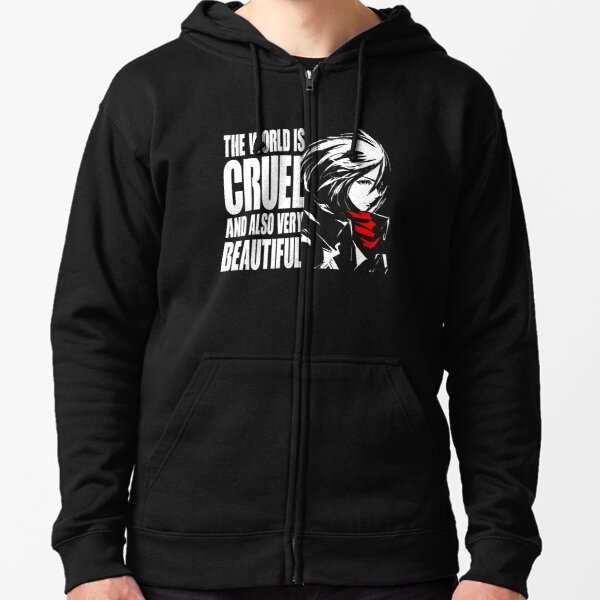 The world is cruel and also very beautiful Zipped Hoodie