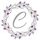 Monogramm-Buchstabe C | Personalisiert | Aquarell Design von PraiseQuotes