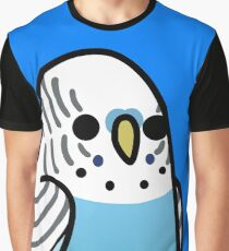 Too Many Birds! - Blue Budgie Graphic T-Shirt