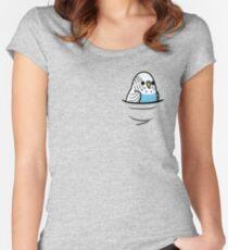 Zu viele Vögel! - Blauer Wellensittich Tailliertes Rundhals-Shirt