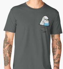 Too Many Birds! - Blue Budgie Men's Premium T-Shirt