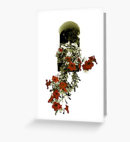 Hanging Flowers Greeting Card