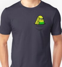 Too Many Birds! - Yellow n' Green Budgie Slim Fit T-Shirt
