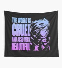 The world is cruel and also very beautiful Wall Tapestry