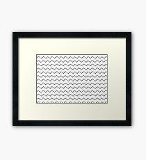 zig zag pattern Framed Print