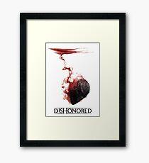 Dishonored Mask Framed Print