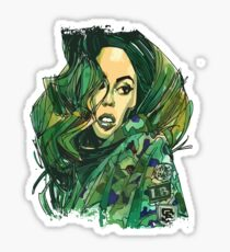 Army Girl Carlita Sticker