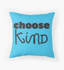 Choose Kind Wonder black logo shirt and assorted items Throw Pillow