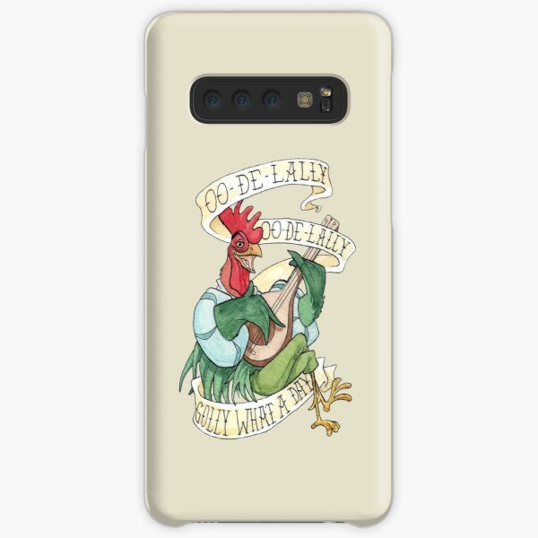 Alan-A-Dale Rooster : OO-De-Lally Golly What A Day Tattoo Watercolor Painting Robin Hood Samsung Galaxy Snap Case
