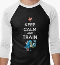 keep calm and train Men's Baseball ¾ T-Shirt