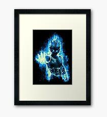 Vegeta Blue Black Framed Print