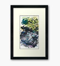 Chimney Rocks Framed Print