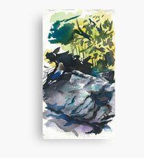Chimney Rocks Canvas Print