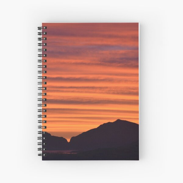 Sunset Over Cedar Spiral Notebook