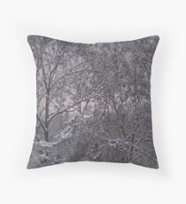 snows here  Throw Pillow