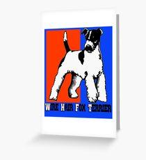 Wire Hair Fox Terrier Greeting Card