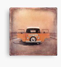 Orange Volkswagen Kombi Canvas Print