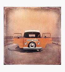 Orange Volkswagen Kombi Photographic Print