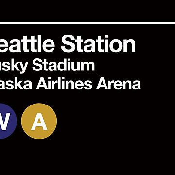 Seattle (Univ. of Washington) Sports Venue Subway Sign by phoneticwear