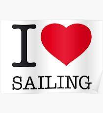 I ♥ SAILING Poster