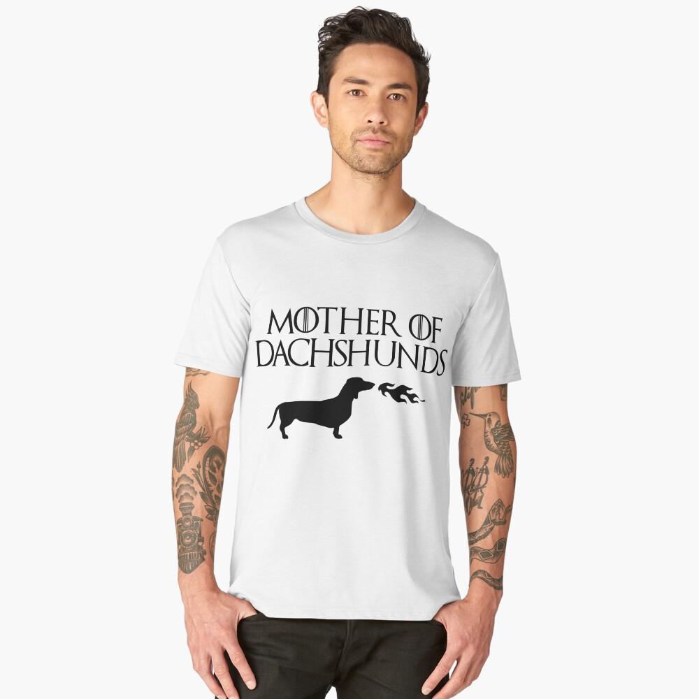 Mother of Dachshunds (Black) Men's Premium T-Shirt Front