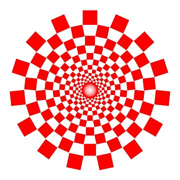 Optical Illusion, Spiral, RED by TOMSREDBUBBLE