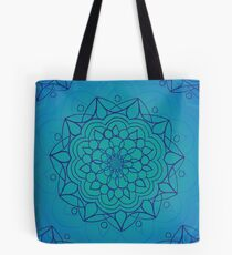 Mandala - Blue - Throat Chakra Tote Bag