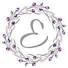 Monogramm-Buchstabe E | Personalisiert | Aquarell Design von PraiseQuotes