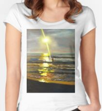 Serenity Sunset Women's Fitted Scoop T-Shirt