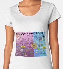 The Map of Mathematics Women's Premium T-Shirt