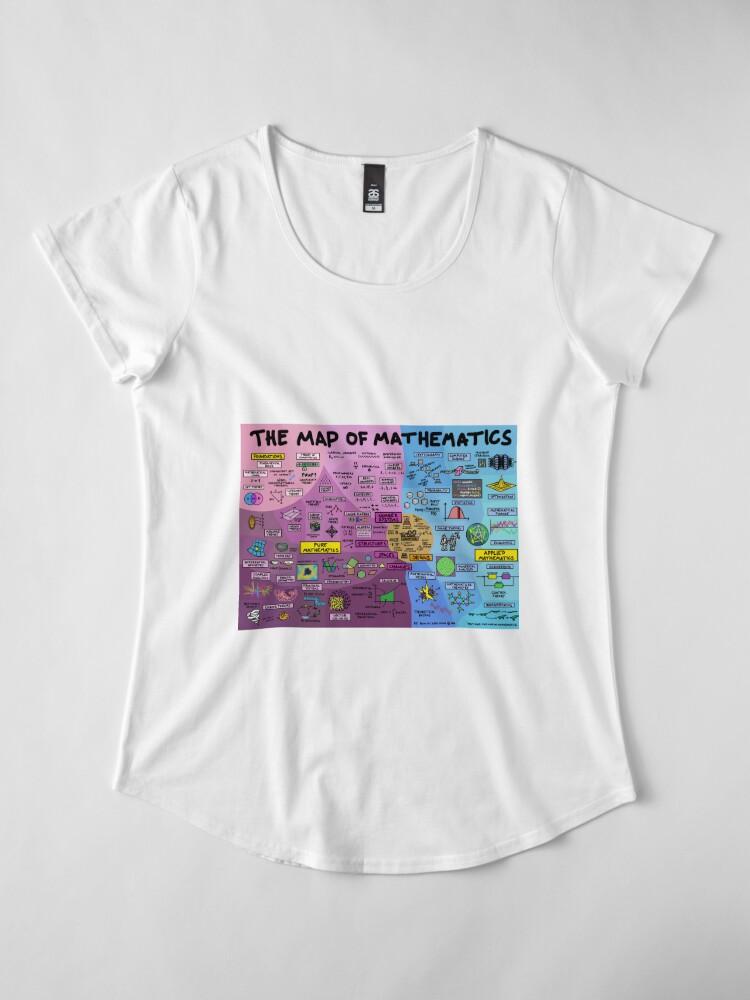 Alternative Ansicht von Die Karte der Mathematik Premium Rundhals-Shirt
