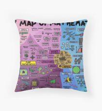 The Map of Mathematics Throw Pillow