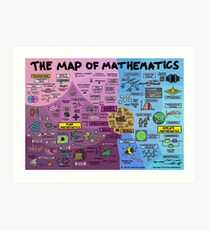 The Map of Mathematics Art Print