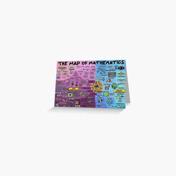 El mapa de las matemáticas Tarjetas de felicitación
