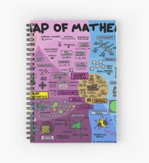 The Map of Mathematics Spiral Notebook