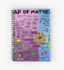 Cuaderno de espiral El mapa de las matemáticas