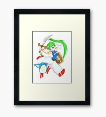 Asha- Monster World 4 (Genesis)  Framed Print