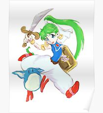 Asha- Monster World 4 (Genesis)  Poster