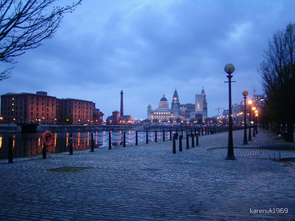 Liverpool - Albert Dock - evening by karenuk1969