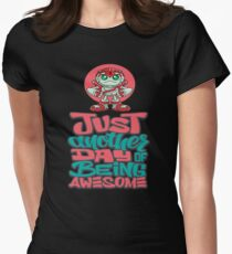 """Robobot """"Off to Mars"""" / Three / Just Another Day of Being Awesome! Women's Fitted T-Shirt"""