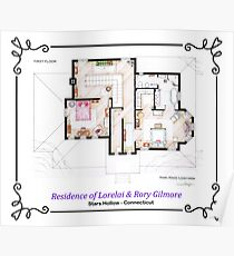 House of Lorelai & Rory Gilmore - First Floor Poster