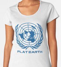 Flat Earth Map Logo Women's Premium T-Shirt