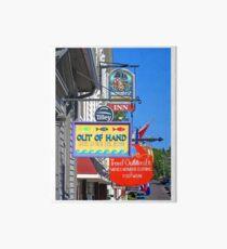 Lunenburg shop signs Art Board