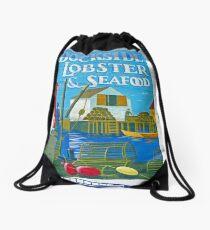 Dockside Lobster and Seafood sign Drawstring Bag
