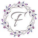 Monogramm-Buchstabe F | Personalisiert | Aquarell Design von PraiseQuotes