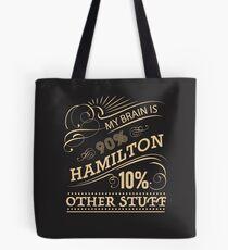 Bolsa de tela My Brain is 90% Hamilton Camiseta vintage de Hamilton Broadway Musical - Aaron Burr Alexander Hamilton Gift