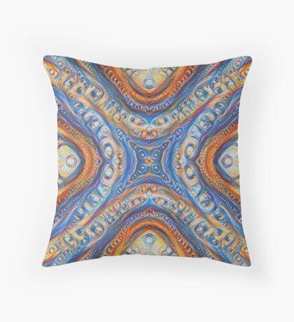 Demicircles #DeepDream Floor Pillow
