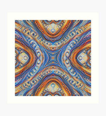 Demicircles #DeepDream Art Print